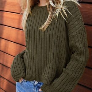 Cream pacsun sweater